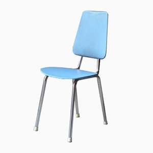Chaise pour Enfant Vintage en Chrome et Skaï