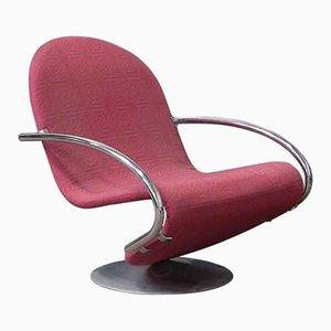 Sessel aus 1-2-3 Serie mit Stoffbezug von Verner Panton, 1970er