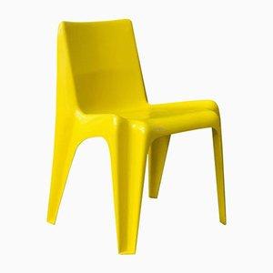Chaise en Plastique Jaune, 1970s