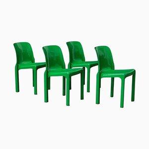 Stühle von Vico Magistretti für Artemide, 1969, 4er Set