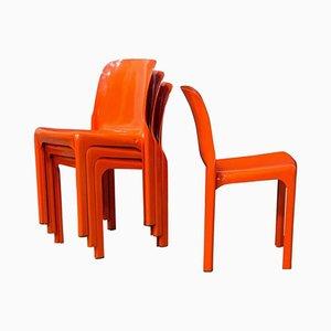 Selene Stühle von Vico Magistretti für Artemide, 1969, 4er Set