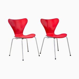 Modell 3107 Butterfly Stühle von Arne Jacobsen, 1955, 2er Set