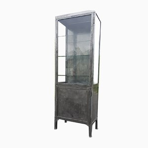 Vintage Polish Steel Medical Cabinet, 1920s