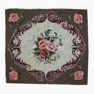 Tapis Crocheté Antique, États-Unis, 1920s