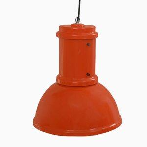 Lámpara colgante roja de Fontana Arte, 1965