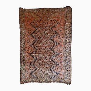 Antique Handmade Uzbek Beshir Rug, 1900s