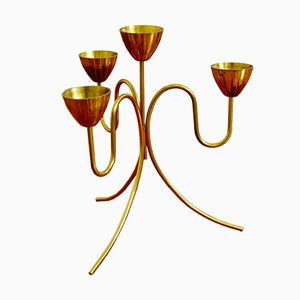 Mid-Century Candelabra in Brass by Gunnar Ander for Ystad Metall