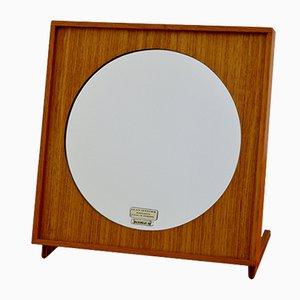 Espejo de mesa de teca de Glasmäster, años 60