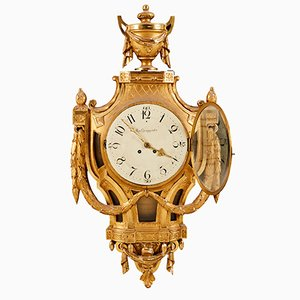 Antique Gustavian Wall Clock from August Ljungqvist