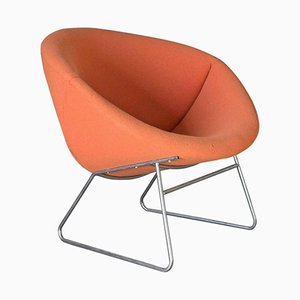 Orange Lounge Chair by Rudolf Wolf for Rohe Noordwolde, 1950s
