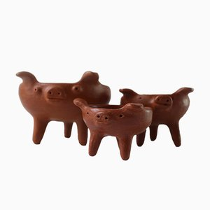 Three Little Pigs Bowls by Alberta Mateo & María Gutiérrez for Colectivo 1050º, Set of 3