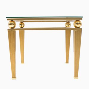 Tavolino da caffè Hollywood Regency in ottone dorato, anni '60