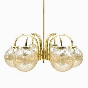 Vintage Golden Ceiling Light with 6 Spheres, 1960s