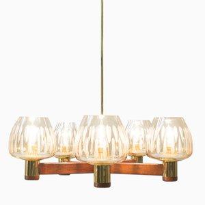Lámpara de araña Mid-Century con cinco luces