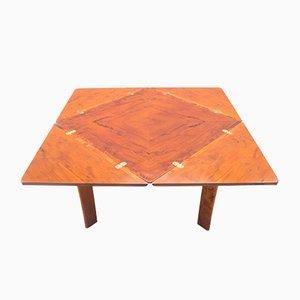 Mesa de juegos vintage de madera, años 70