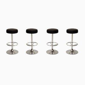Tabourets de Bar Vintage Chromés de Johansson Design, Set de 4