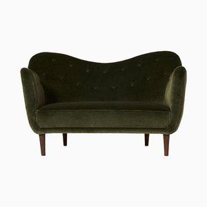 Geschwungenes Mid-Century BO64 Sofa von Finn Juhl für Bovirke