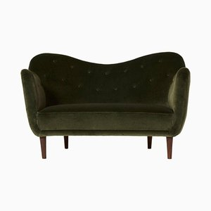 Mid-Century Curved BO64 Sofa by Finn Juhl for Bovirke