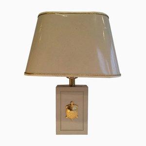 Lámparas de mesa decoradas con tortugas, años 70. Juego de 2