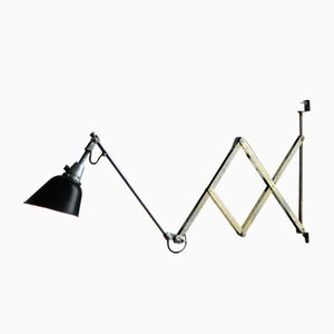 Lámpara acordeón modelo 112 vintage grande de Curt Fischer para Midgard/ Industriewerke Auma