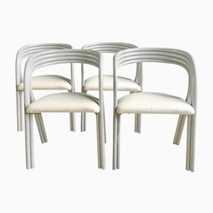 Vintage Dutch Dining Chairs by Axel Enthoven for Rohé Noordwolde, Set of 4
