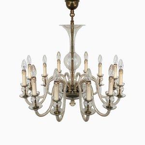 Lámpara de araña vintage de cristal de Murano, años 70