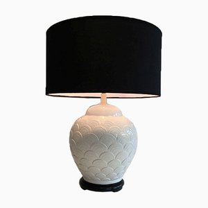 Lámpara de cerámica blanca, años 70