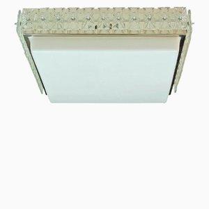 Lampada da soffitto con 44 prismi in vetro sfaccettato, anni '60