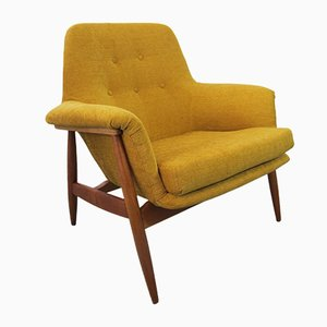 Vintage Teak Easy Chair from De Ster Gelderland, 1950s