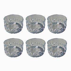 Cuencos de vidrio de Riedel, años 60. Juego de 6