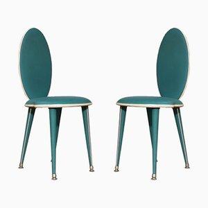 Mid-Century Esszimmerstühle von Umberto Mascagni, 1950er, 2er Set