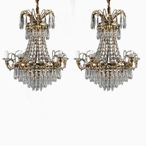 Antique Chandelier and Set of 2 Sconces