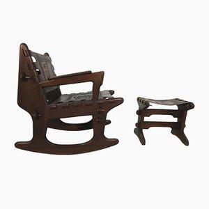 Rocking Chair avec Repose-Pied par Angel Pazmino pour Meubles de Estilo, 1960s