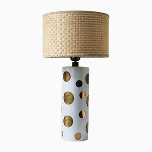 Lámpara de mesa vintage de Gerold Porzellan Bavaria, años 40