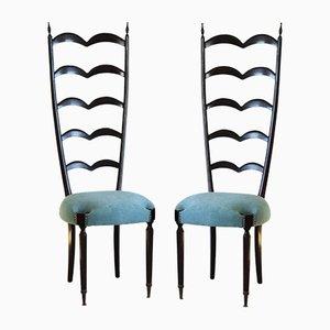 Sedie vintage con schienale a stecche di Paolo Buffa per Marelli & Colico