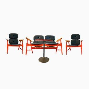 Set da salotto con tavolino da caffè di Poltronova, anni '70