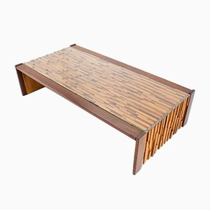 Large Brazilian Brutalist Coffee Table by Percival Lafer, 1960s