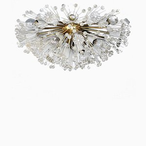 Vintage Dandelion Flush Mount Chandelier by Emil Stejnar for Rupert Nikoll