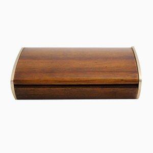 Caja de almacenamiento austriaca modernista de nogal de Carl Auböck, años 50