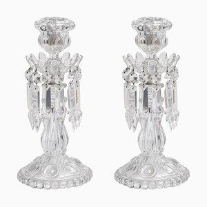Vintage Baccarat Candelabras with Prisms, Set of 2