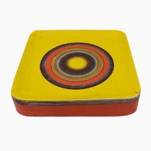 Centrotavola grande in ceramica multicolore di Guido Gambone, anni '50