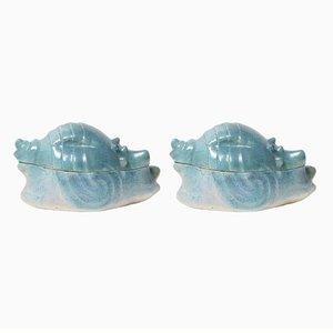 Muschelförmige Vintage Gefäße aus Keramik, 2er Set