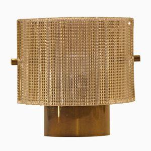 Vintage Wandlampen aus Messing & Glas von Hans-Agne Jakobsson AB Markaryd, 2er Set