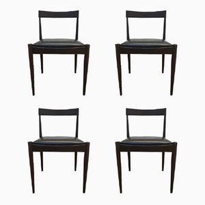 Vintage Palisander Dining Chairs, Set of 4