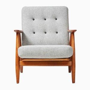 GE-240 Eiche Cigar Chair von Hans J. Wegner für Getama, 1950er