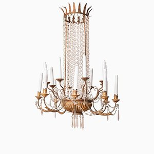 Antique French Sixteen-Light Chandelier