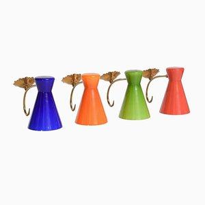 Vintage Italian Blown Glass Sconces, Set of 4