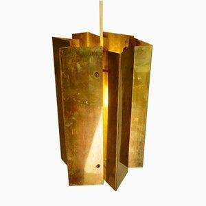 Lámpara colgante danesa de latón, años 60