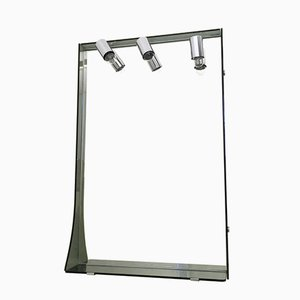 Smoked Glass and Chrome-Plated Wall Mirror from Veca, 1970s