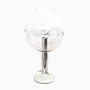 Lámpara de mesa esférica de cristal de Murano, años 70
